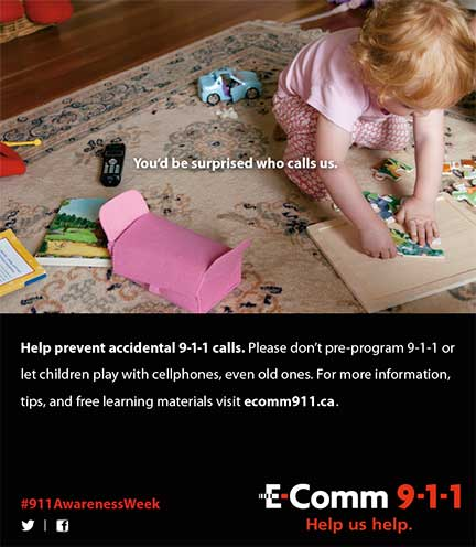 Emergency Service Dispatchers' and 9-1-1 Awareness Week ad