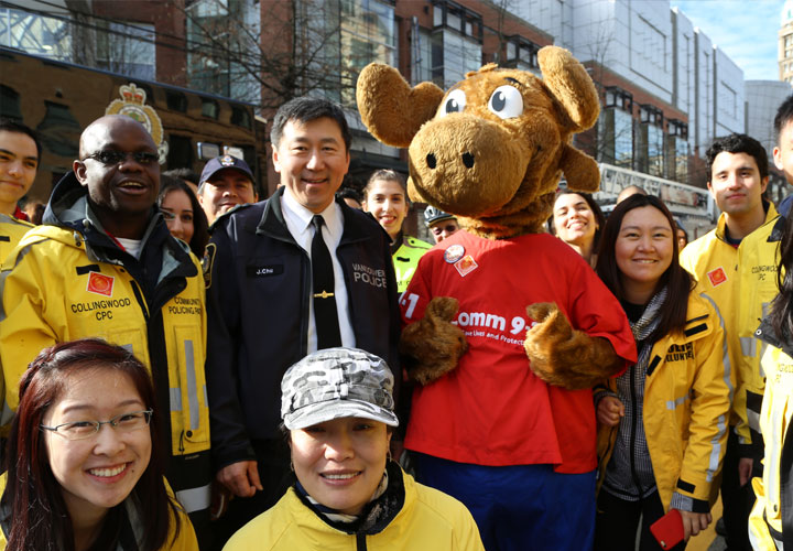 On February 22 E-Comm marched alongside our Vancouver Police partners in the annual Chinese New Year parade.
