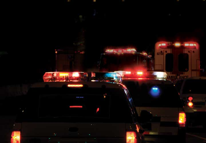 image of emergency vehicles