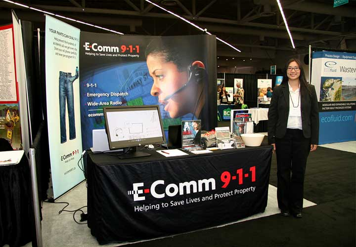E-Comm booth at UBCM convention