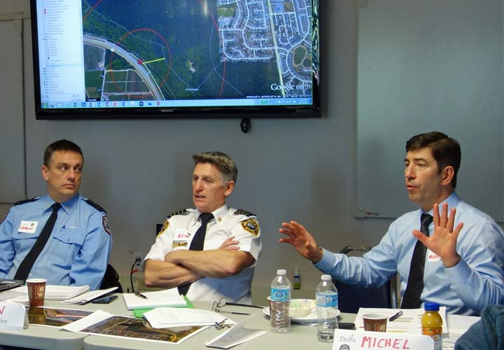 Managing communications during a large-scale incident was the primary focus for the tabletop exercise hosted by DFES.