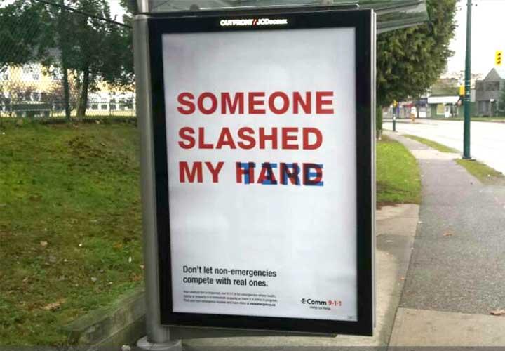 Transit shelter non-emergency ad