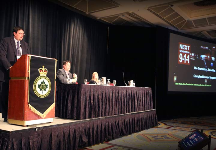 E-Comm Vice-President of Technology Services Mike Webb shares insights into the future of emergency communications during CACP conference.
