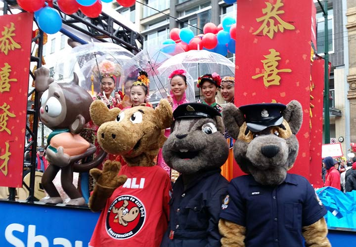 On February 14 E-Comm marched alongside Vancouver police partners in the annual Chinese New Year parade.