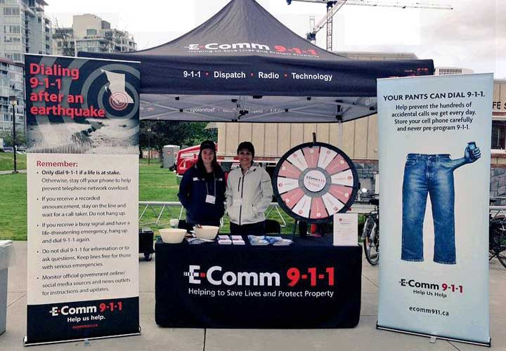 E-Comm at Emergency Preparedness Week event.
