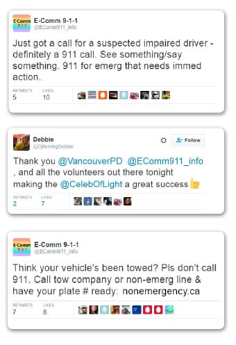 tweets during Celebration of Light event