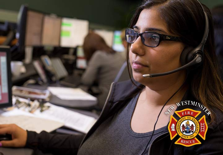Member of E-Comm's fire dispatch team