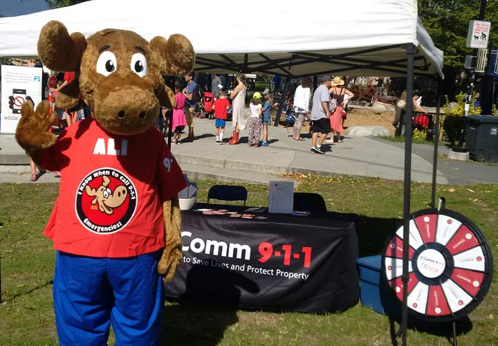 Ali at Kids & Commercial Drive school safety event on September 11.