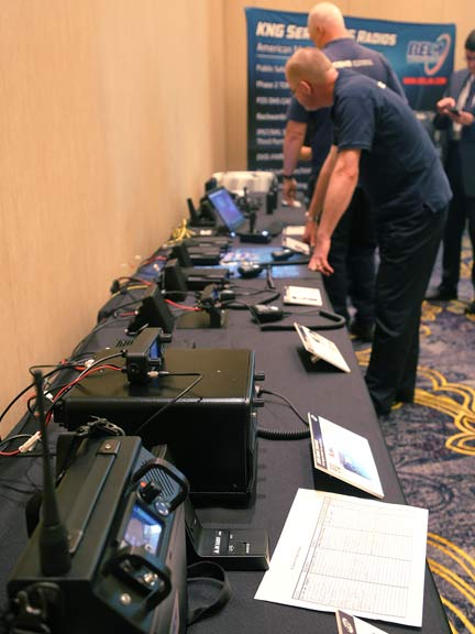 Part of the equipment selection process for agencies included vendor trade show events.