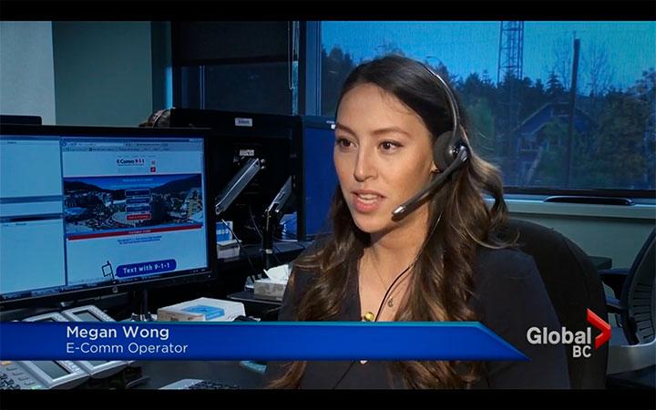 Call-taker Megan Wong