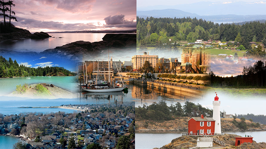 Collage of Southern Vancouver Island communities