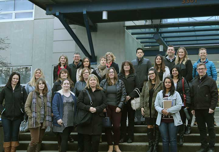 Capilano University's Local Government Services in BC class visited E-Comm for a tour.
