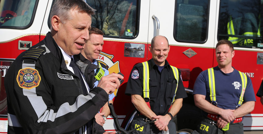 Delta Fire & Emergency Services Chief Paul Scholfield makes his inaugural NGRP broadcast.