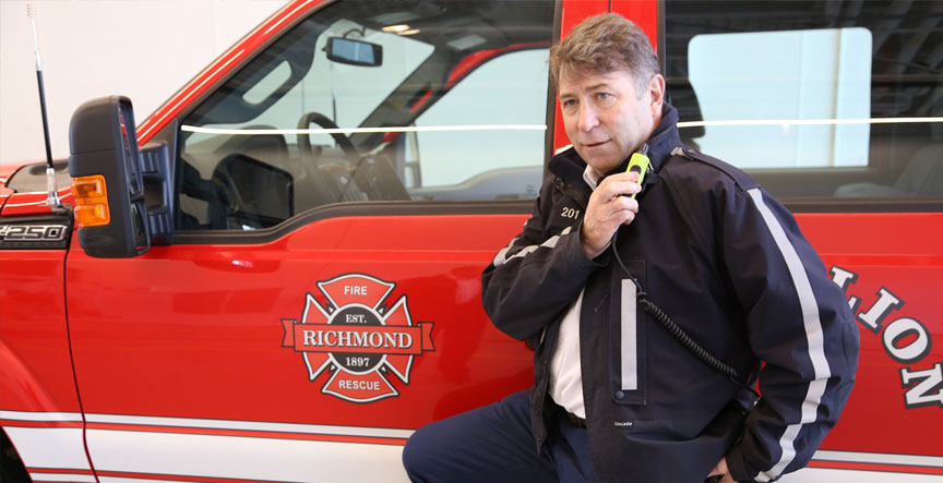 Richmond Fire-Rescue Chief Tim Wilkinson: new digital network provides increased reliability and coverage.