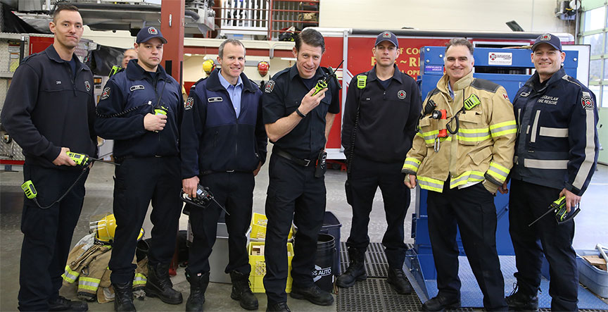 Coquitlam Fire/Rescue moved to the new radio network on February 5.