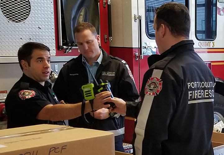 Port Coquitlam firefighters receive their new radios