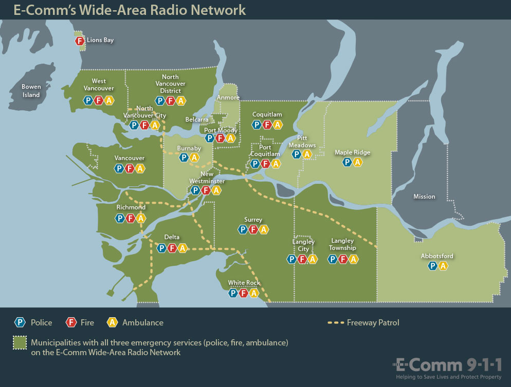 E-Comm's Wide-Area Radio map