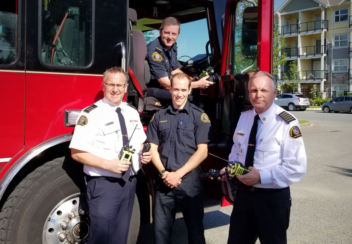 Township of Langley firefighters with the latest in radio communications equipment.