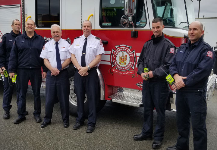 Langley City firefighters made the move to the E-Comm radio network on April 17.