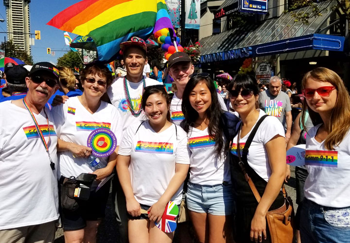E-Comm at 2018 Vancouver Pride Parade