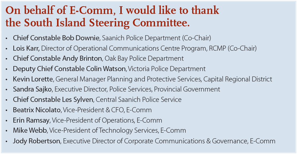South Island Steering Committee list