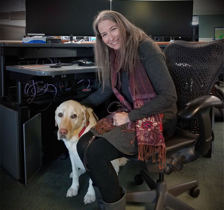 Lynn Gifford and Koltan are now part of E-Comm's public safety team.