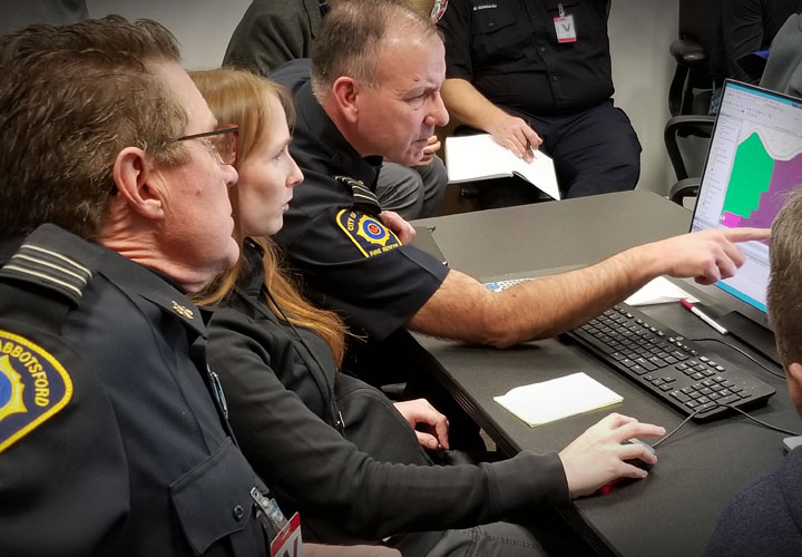 E-Comm GIS Technologist Tammy Chabot conducted workshops with fire department representatives as part of the transition planning.