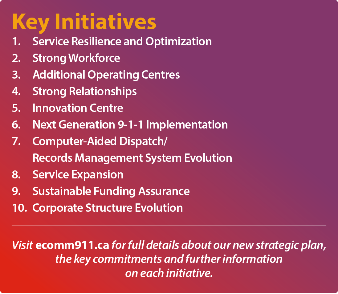 Key Initiatives from E-Comm Strategic Plan