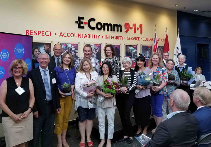 E-Comm staff recognized for their 20 years of service