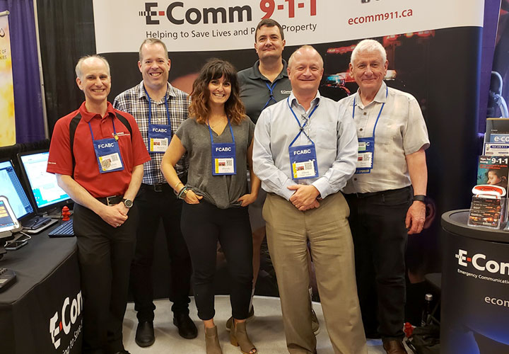 Our E-Comm team at the BC Fire Expo in June in Penticton.