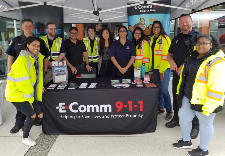 E-Comm at Delta Police Day on May 16, 2019.